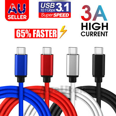 USB-C Type C 3.1 Data Cable Fast Charger High Speed For Samsung S10 Plus HUAWEI