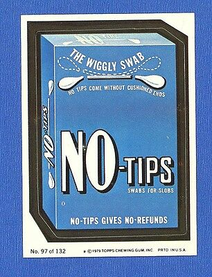 1979 Topps  Wacky Packages  2nd Series   # 97 No Tips Swabs