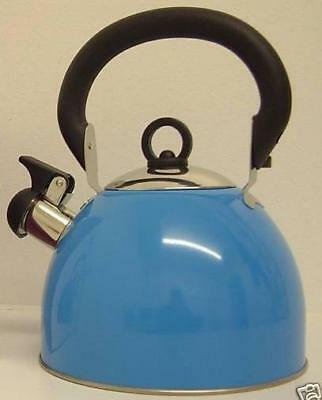 Whistling stainless steel kettle Blue 2.5 Ltr Camping