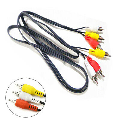 3 RCA to 3 RCA Composite Audio Video AV Cable Cord Male to Male