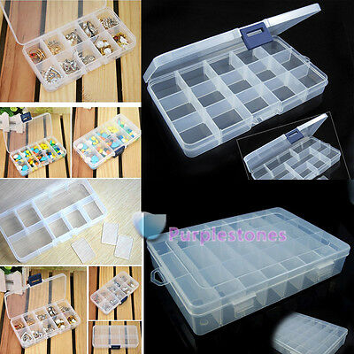 10/15/24Grid Jewelry Earring Ring Coin Key Storage Pill Box Case Organiser Gaine