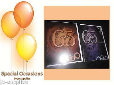 HAPPY BIRTHDAY GREETINGS CARD UNISEX 65TH AGE 65 SIXTYFIFTH Multi Styles