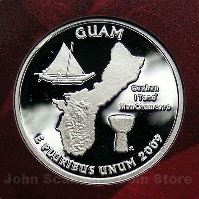 2009-S Guam US Territory Quarter Gem Proof Deep Cameo (90% Silver)