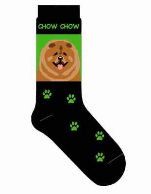 Chow Chow Socks Lightweight Cotton Crew Stretch Egyptian Made Green