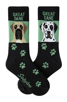 Great Dane Socks Crew Unisex Green