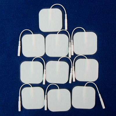 10 Square Tens Machine Replacement Electrode Pads Self-Adhesive 5x5cm Reusable