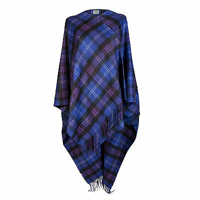 EDINBURGH CASHMERE 100% Luxury Cashmere Ladies Cape Tartan Heritage of Scotland