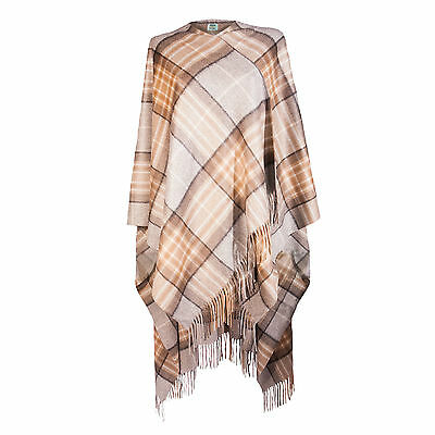 EDINBURGH CASHMERE 100% Luxury Cashmere Ladies Cape Tartan MacKellar