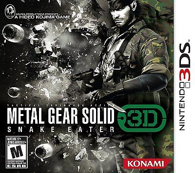Metal Gear Solid: Snake Eater 3D (Nintendo 3DS, MGS, Konami, Action, Shoot)  NEW