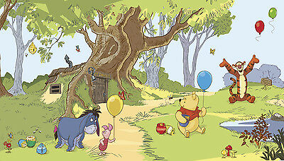 WINNIE THE POOH XL WALLPAPER MURAL New Disney Kids Room Baby Nursery Wall Decor
