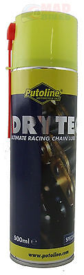 PUTOLINE DRYTECH MOTORCYCLE CHAIN LUBE, LATEST PTFE LUBRICANT NON FLING 500ml