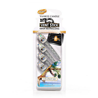 Yankee Candle Coconut Bay Vent Stick Air Freshener FREE P&P