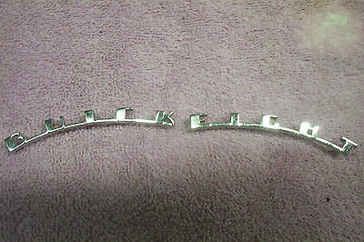 1939 Buick Hood Letters, Buick Eight, NEW