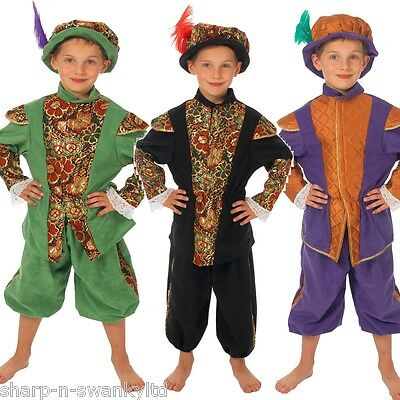 Italian Made Boys 6Pc Rich Tudor Nelson Pirate Fancy Dress Costume Outfit 0-10ys