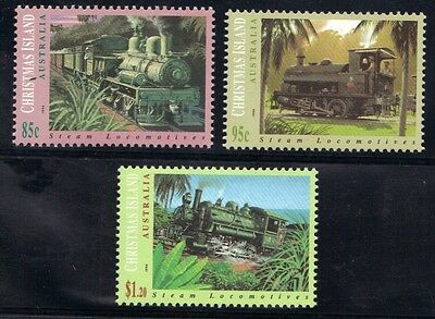 STAMPS from AUSTRALIA  CHRISTMAS ISLAND  1994  STEAM LOCOMOTIVES  (MNH) lot 565
