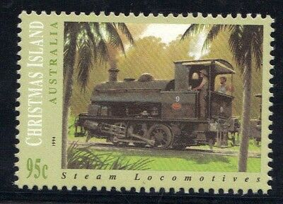 STAMPS from AUSTRALIA  CHRISTMAS ISLAND  1994  STEAM LOCOMOTIVES  (MNH) lot 565a