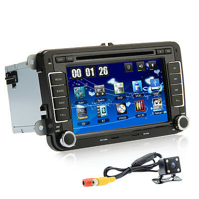"2013 HD 7"" Car DVD Player Volkswagen VW Candy Jetta Skoda Passat Seat+Map+Camera"
