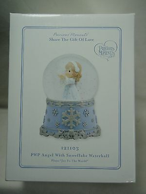 """2011 Precious Moments Share The Gift Of Love PWP Angel Snowflake 8"""" Snowglobe"""