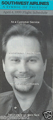 Airline Timetable - Southwest - 04/04/99 - Customer Service Coordinator