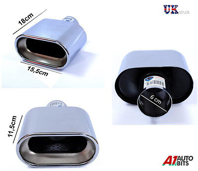 Sport Chrome Universal Exhaust Tail Tip Pipe Trim Muffler New 366A