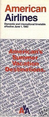 Airline Timetable - American - 01/06/82