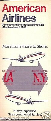 Airline Timetable - American - 01/06/84