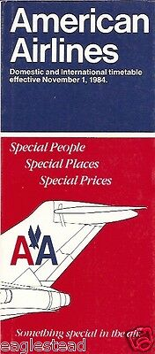 Airline Timetable - American - 01/11/84