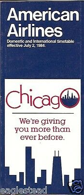 Airline Timetable - American - 02/07/84