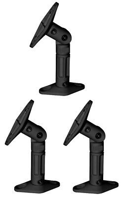 Black - 3 Pack Lot - Universal Wall or Ceiling Speaker Mounts Brackets fits BOSE