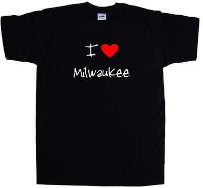 I Love Heart Milwaukee T-Shirt