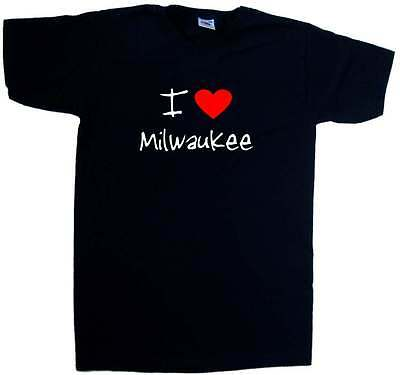 I Love Heart Milwaukee V-Neck T-Shirt