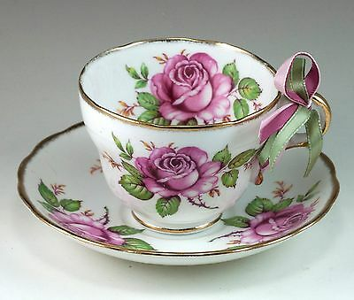Vintage Bone China Melba Staffordshire Rose Tea Cup & Saucer Made In England