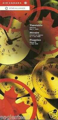 Airline Timetable - Air Canada - 01/05/99