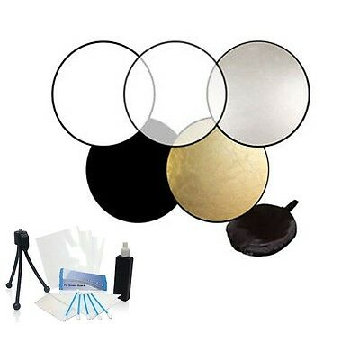 """32"""" Collapsible Reflector Disk 5-in-1 Kit for Olympus PEN E-P3 EP3 E-PL3 EPL3"""