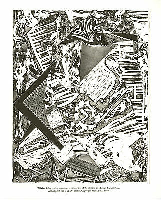 Swan Engravings III - A Lithograph of an etching by Frank Stella