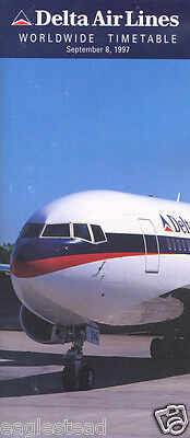 Airline Timetable - Delta - 08/09/97