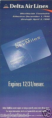 Airline Timetable - Delta - 01/12/98