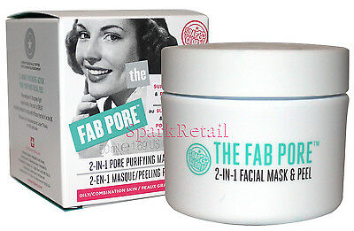 Soap and Glory THE FAB PORE 2-in-1 Pore Purifying Mask & Peel 50ml Oily Skin