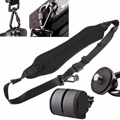 BLACK Camera Quick Rapid Shoulder Neck Strap Belt for Canon Nikon Sony Olympus
