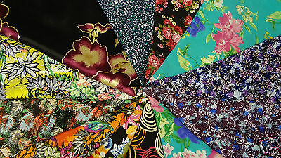 Viscose print dress fabric, soft drape by the 1/2 meter