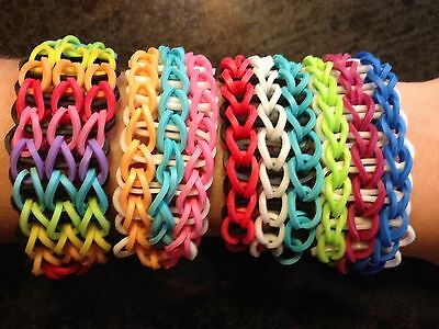 Rainbow Loom Triple Single Bracelet ~ Custom ~ You Pick Colors ~ FREE SHIPPING