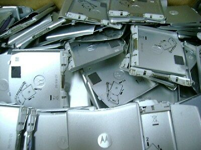 Lot Of 100 Used Oem Battery Door Back Cover Motorola V3M V3C Silver