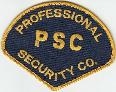 Psc Professional Security Company Shoulder Patch Unknown State Patches Police Historical Memorabilia Collectibles