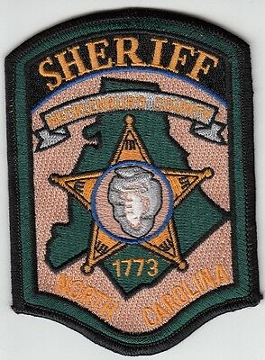 Mecklenburg County North Carolina Sheriff Shoulder Patch
