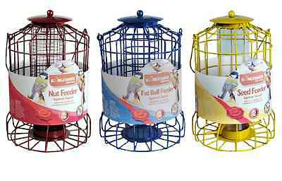 Large 38Cm Hanging Wild Bird Garden Feeders With Metal Squirrel Guard