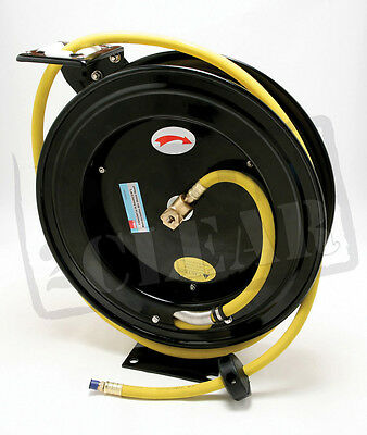 "50Ft Heavy Duty Air Hose Reel 3/8"" Wall Mounted Retractable Promotion 3/8"