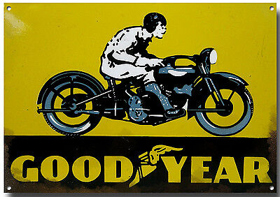 GOODYEAR TYRES MOTORCYCLE METAL SIGN