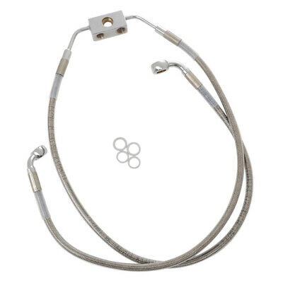 """Stainless +8"""" Front ABS Brake Line 2012-2017 Harley-Davidson Dyna Wide Glide"""