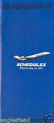 Airline Timetable - Braniff - 14/05/87