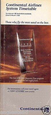 Airline Timetable - Continental - 01/03/97